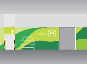 停车场创意文化设计图片